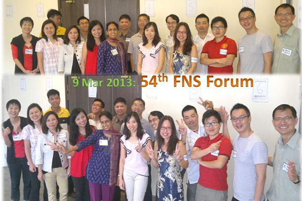 54th FNS Forum 9 Mar 2013, Singapore