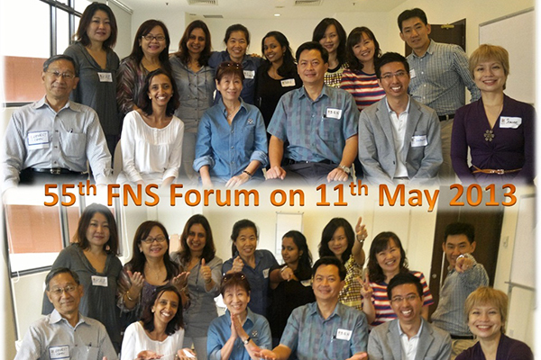 55th FNS Forum 11 May 2013, Singapore