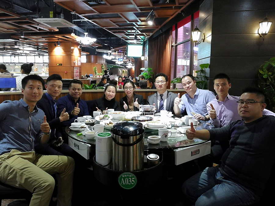 Celebrating with new partner for FIT in Guangdong, China 28Nov 2017